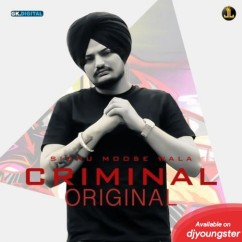 Criminal song download by Sidhu Moosewala