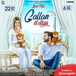 Gallan Dil Diya song download by Lovie Virk