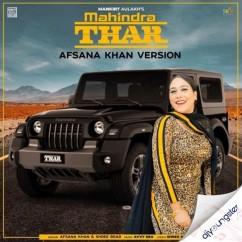 Mahindra Thar ft Shree Brar song download by Afsana Khan